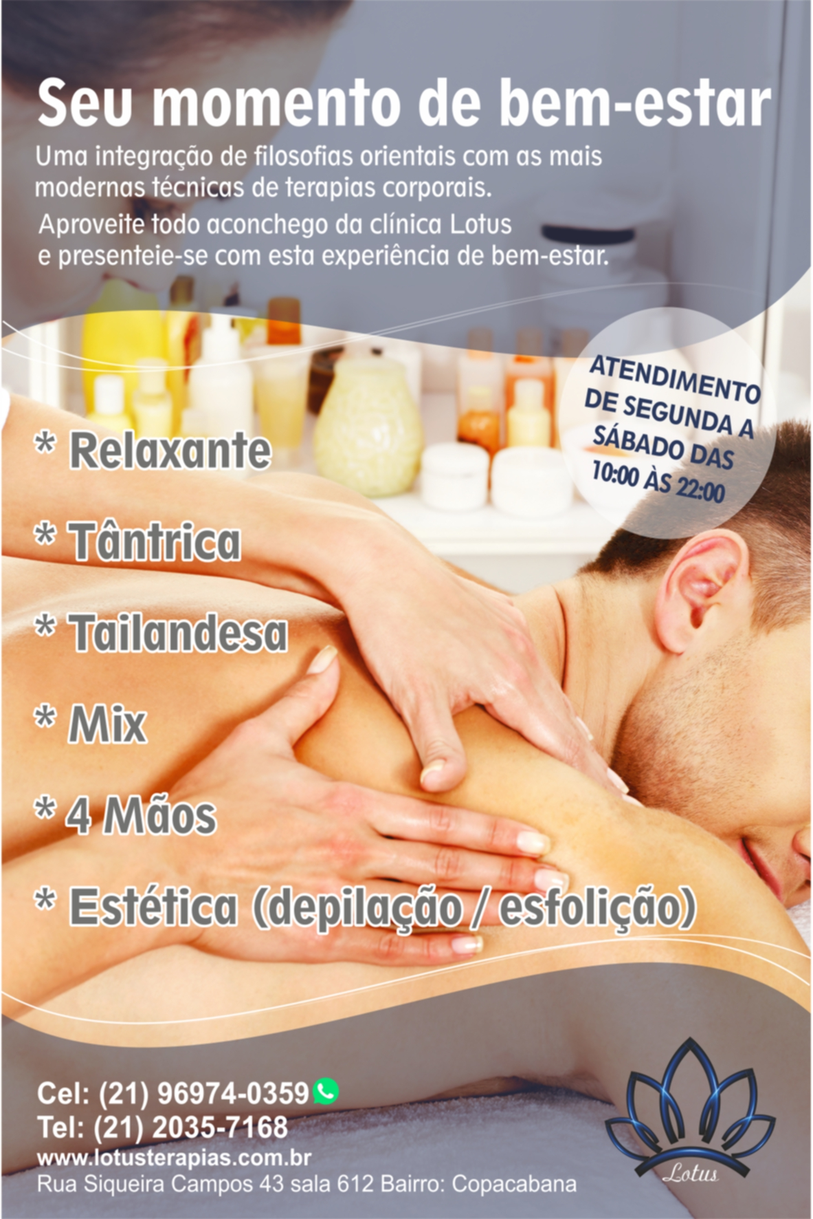 Clínica de massagens Lotus Terapias 426